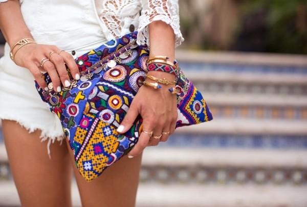 bag boho song of style clutch handbag hand bad purse nail polish jewels anarchy street