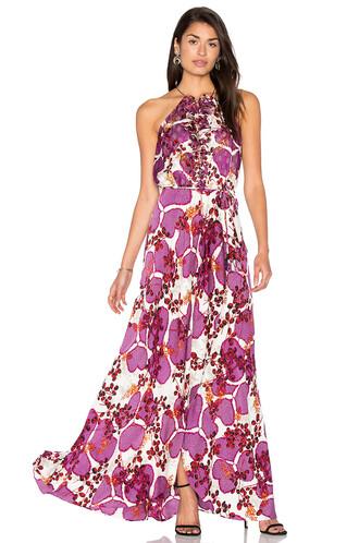 gown purple dress