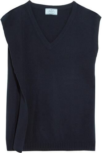sweater draped blue wool