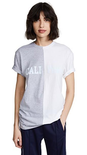 shirt white grey top