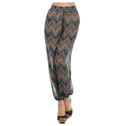 Sheer Zig Zaggy Pants | Forever Mint | Online Store Powered by Storenvy