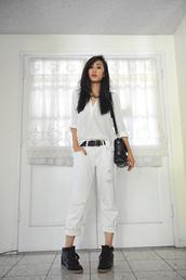 neon blush,shirt,jeans,belt,shoes
