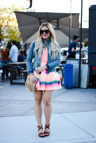 all dolled up blogger jacket tank top skirt jewels sunglasses bag shoes