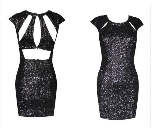 Hot sequins shining sexy dress