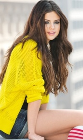 cardigan,selena gomez,yellow