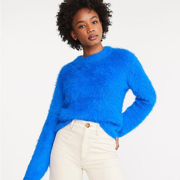 Fuzzed Mock Neck Sweater