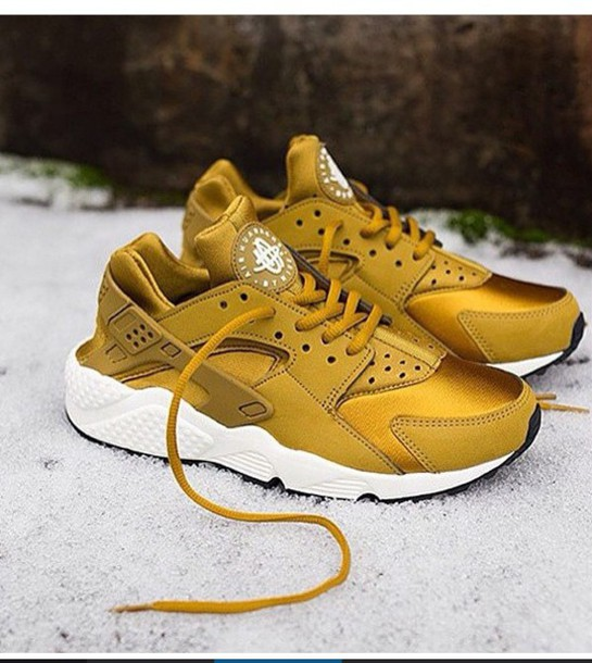 shoes huarache gold nike huarache