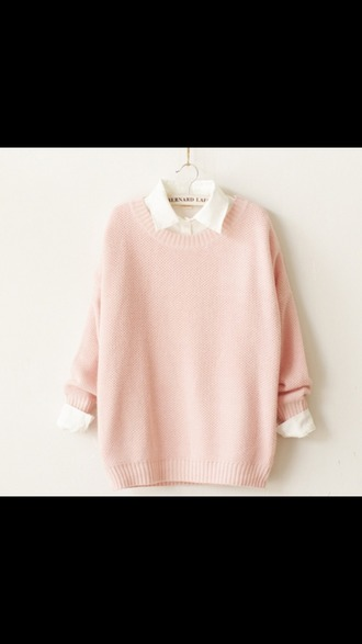 sweater pastel cute pink pretty sweatshirt