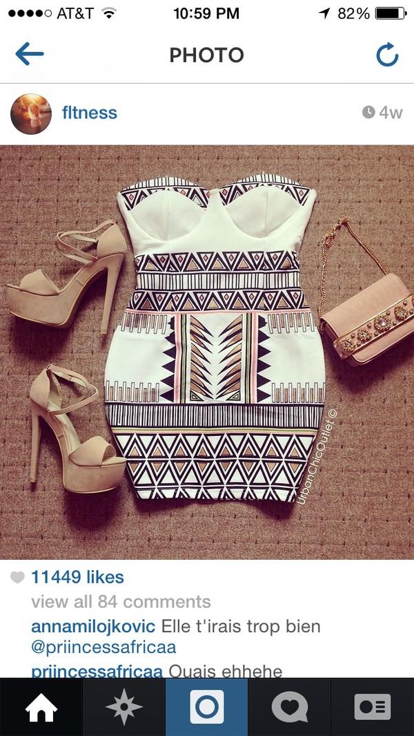 dress shoes top pattern clutch bag