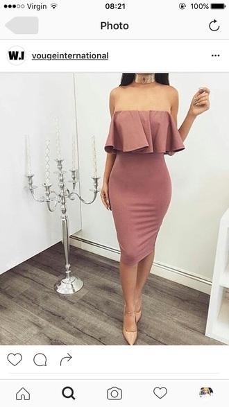 dress rose classy pretty pink fashion
