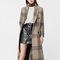 Manteau carreaux laine - femme | mango france