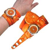 jewels,orange,orange watch,watch,soft watch,cotton strap,bright watch,beautiful watch,designer watch,ziz watch,ziziztime