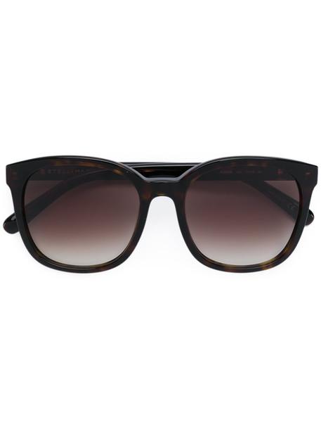 Stella Mccartney Eyewear - square frame sunglasses - women - Acetate/metal - 55, Brown, Acetate/metal