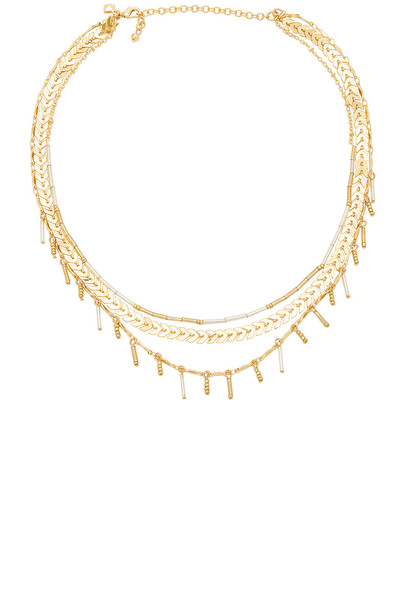 Rebecca Minkoff layered necklace layered necklace metallic gold jewels