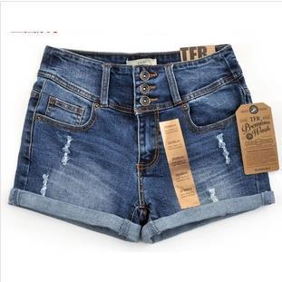 Envío gratis de verano 2014/nueva primavera de moda la cintura alta de la mujer pantalones cortos pantalones en de en Aliexpress.com
