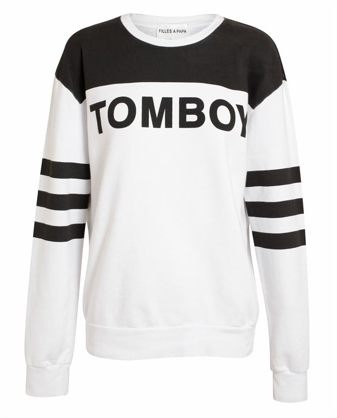 FILLES A PAPA | 'Tomboy' Motif Cotton Sweatshirt | Browns fashion & designer clothes & clothing