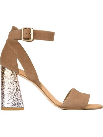 heel glitter women sandals leather nude suede shoes