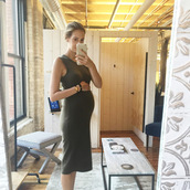 see jane,blogger,dress,green dress,long dress,bodycon dress,maternity,maternity dress,All military green outfit