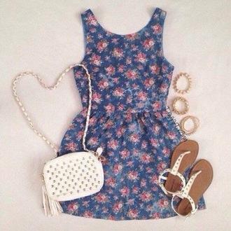 floraldress dress blue dress forever 21