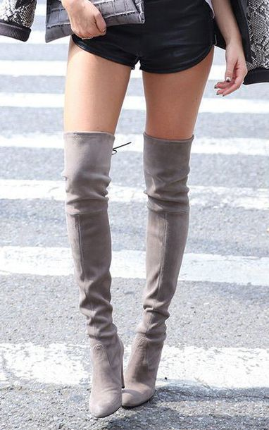 Shoes: suede, boots, long boots, over the knee boots, sexy boots ...
