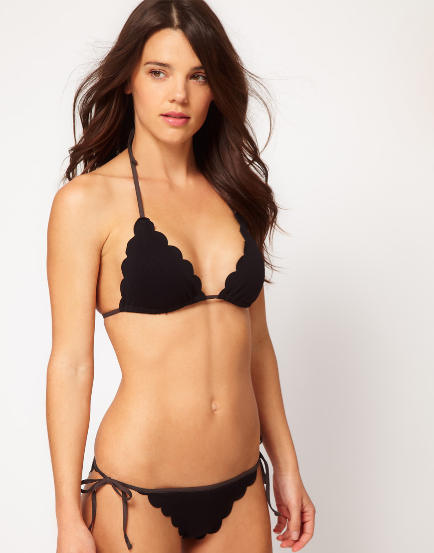 Chloe scallop edge triangle bikini at asos.com