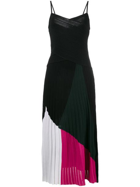 Proenza Schouler dress straps women spandex v neck cotton black
