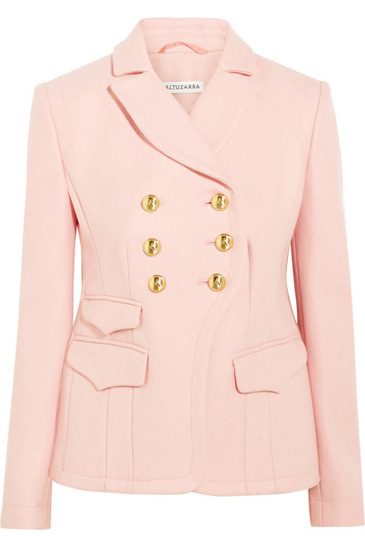 blazer wool blush jacket