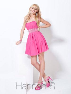 Short Prom Dresses - 2012 Simple Empire Strapless Mini-length ...