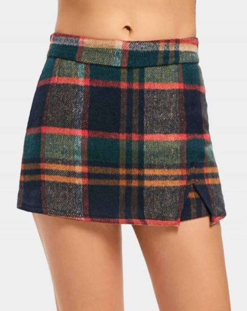 skirt girly plaid plaid skirt mini mini skirt