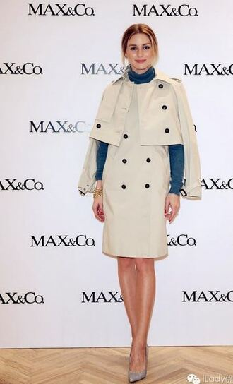 coat trench coat olivia palermo pumps spring outfits