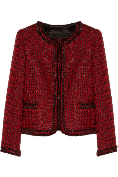 Alice   Olivia | Kidman metallic tweed jacket | NET-A-PORTER.COM