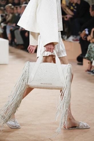 bag white balenciaga trendy