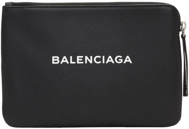 Balenciaga zip pouch black bag