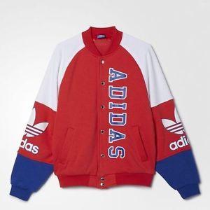 Jacket Baseball Jacket Adidas Red Blue White Wheretoget