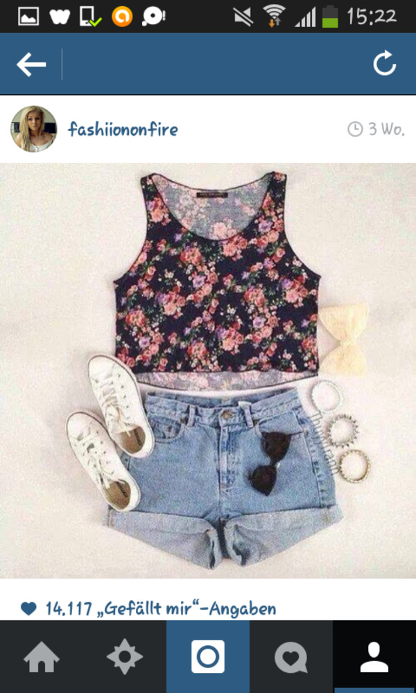 shirt bloom shorts short shoes