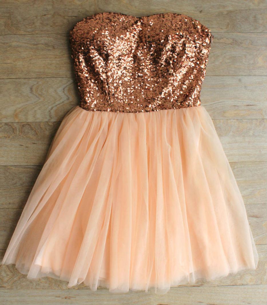 Quot Party Princess Quot Rose Gold Sequin Dress