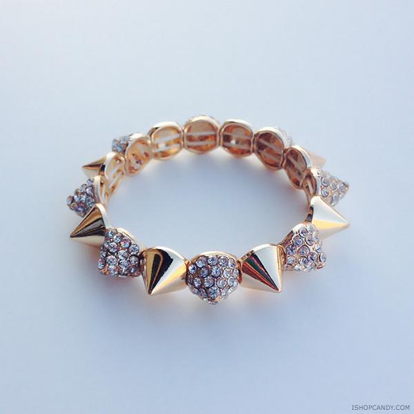 Glam Gold Spike Bracelet