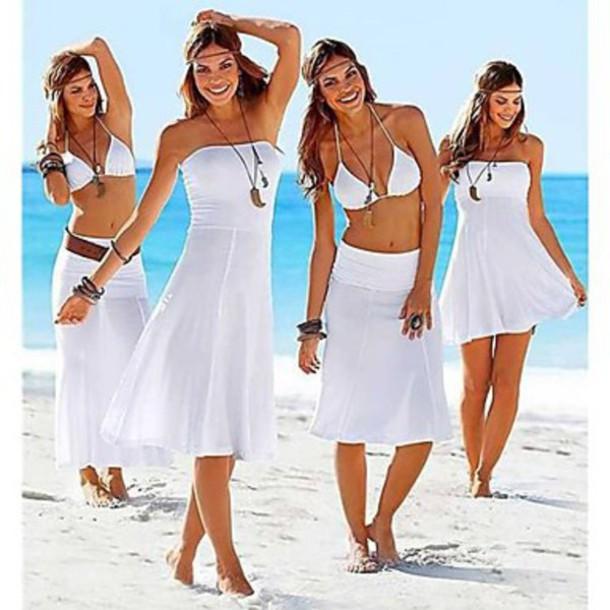 dress strapless summer beach sexy dress white beach dress beach strapless swimwear best place to buy lingerie