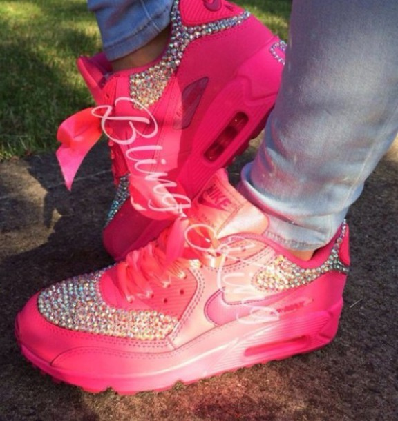 shoes air max nike air max 90 pink trainers diamonte gorgeous nike air max  90 hyperfuse 4b48ed67e2