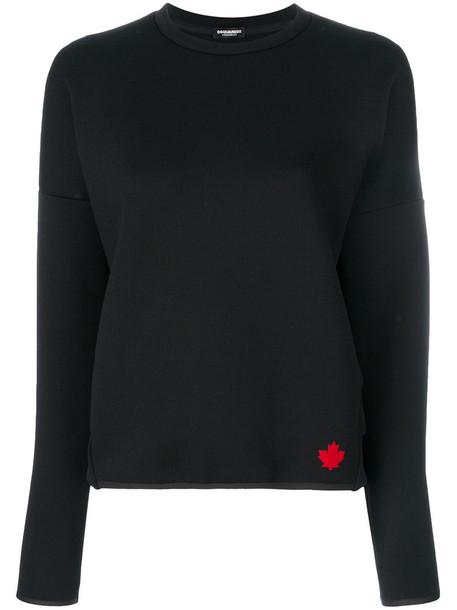 Dsquared2 sweatshirt women spandex black sweater