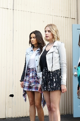 shorts top jacket pretty little liars ashley benson hanna marin