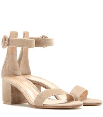 sandals suede beige shoes