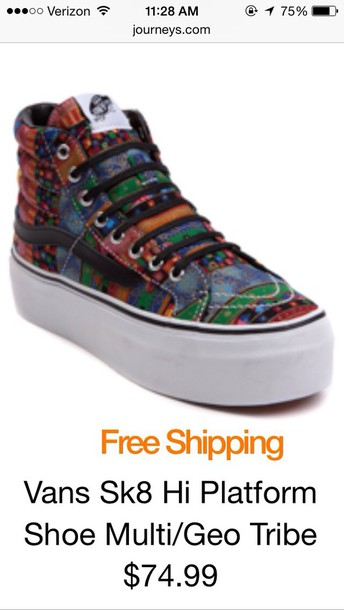 shoes vans multi/geo print