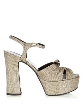 metallic candy sandals platform sandals gold shoes