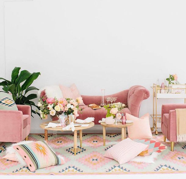 Home accessory tumblr pink home decor furniture home for Sofa table for plants
