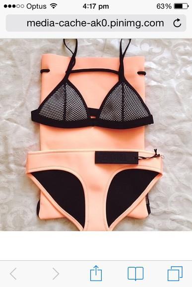 orange swimwear triangl