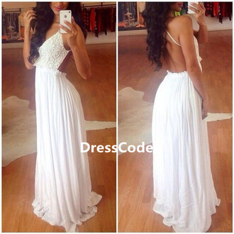evening dress prom dress party dress wedding white dress sexy dress backless dress sexy