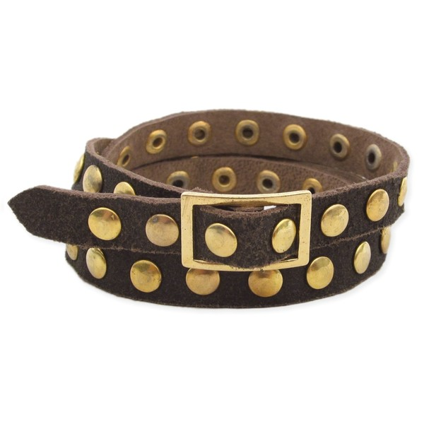 jewels wrap bracelets studs gold brown