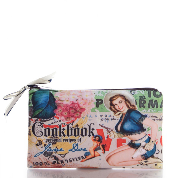 bag cookbook cook book vintage pensylvania ziziztime cosmetic bag cosmetic case