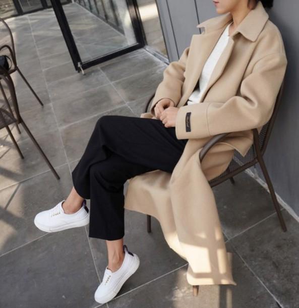 coat beige nude jacket shoes top trench coat spring